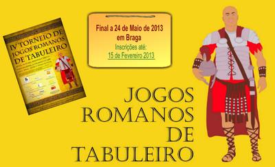 IV Torneio de Jogos Romanos de Tabuleiro [banner]