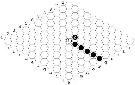 Hex: bloqueio: jogar muito próximo