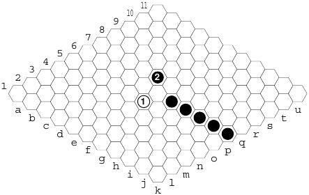 Hex: bloqueio à distância de uma ponte