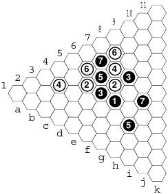 Y: jogadas iniciais num jogo com colocação de 2 peças por jogada